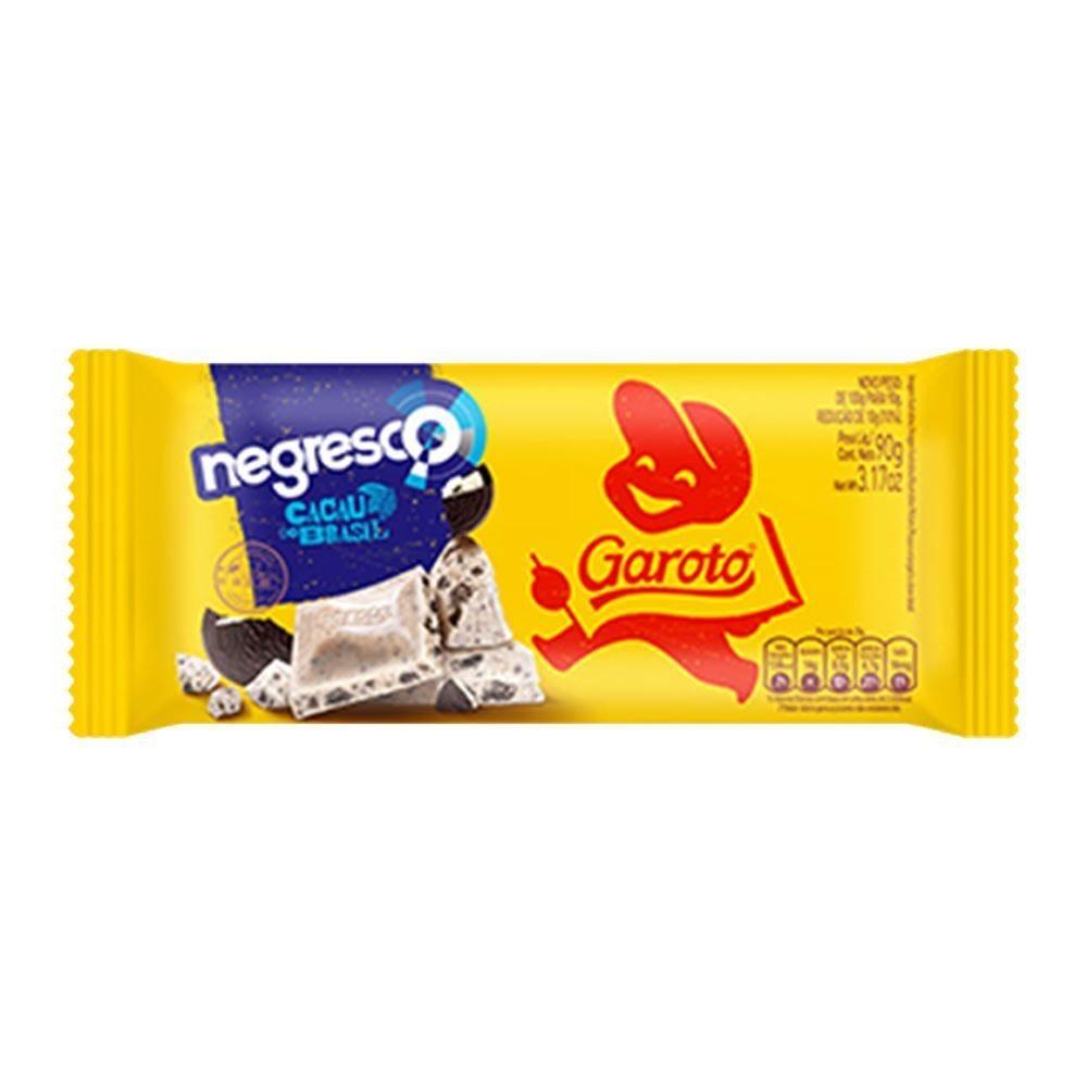 Tablete Garoto Branco Negresco 90G - 90g