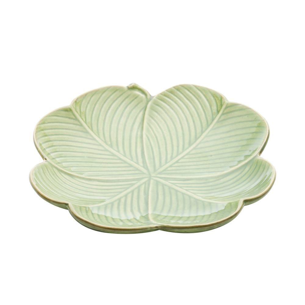 Prato Decorativo Banana Leaf 20X20x3cm - Verde