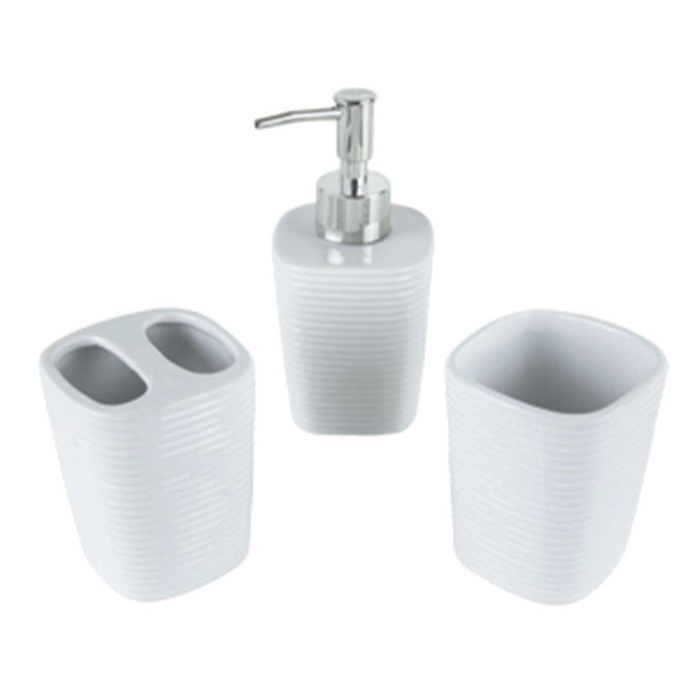 Conjunto Banheiro Ceramica Branco 3Pc - Cerâmica