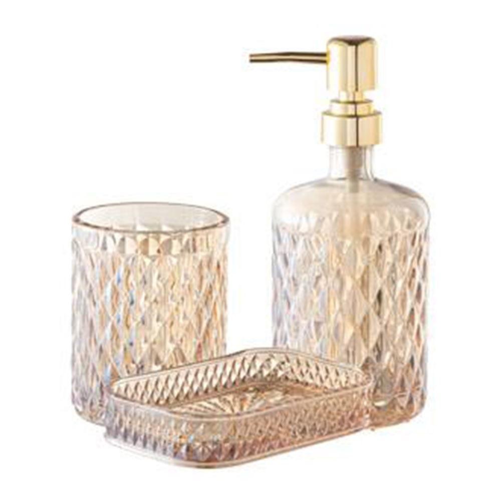 Conjunto Banheiro Vidro Minsk 3Pc - Litt Âmbar