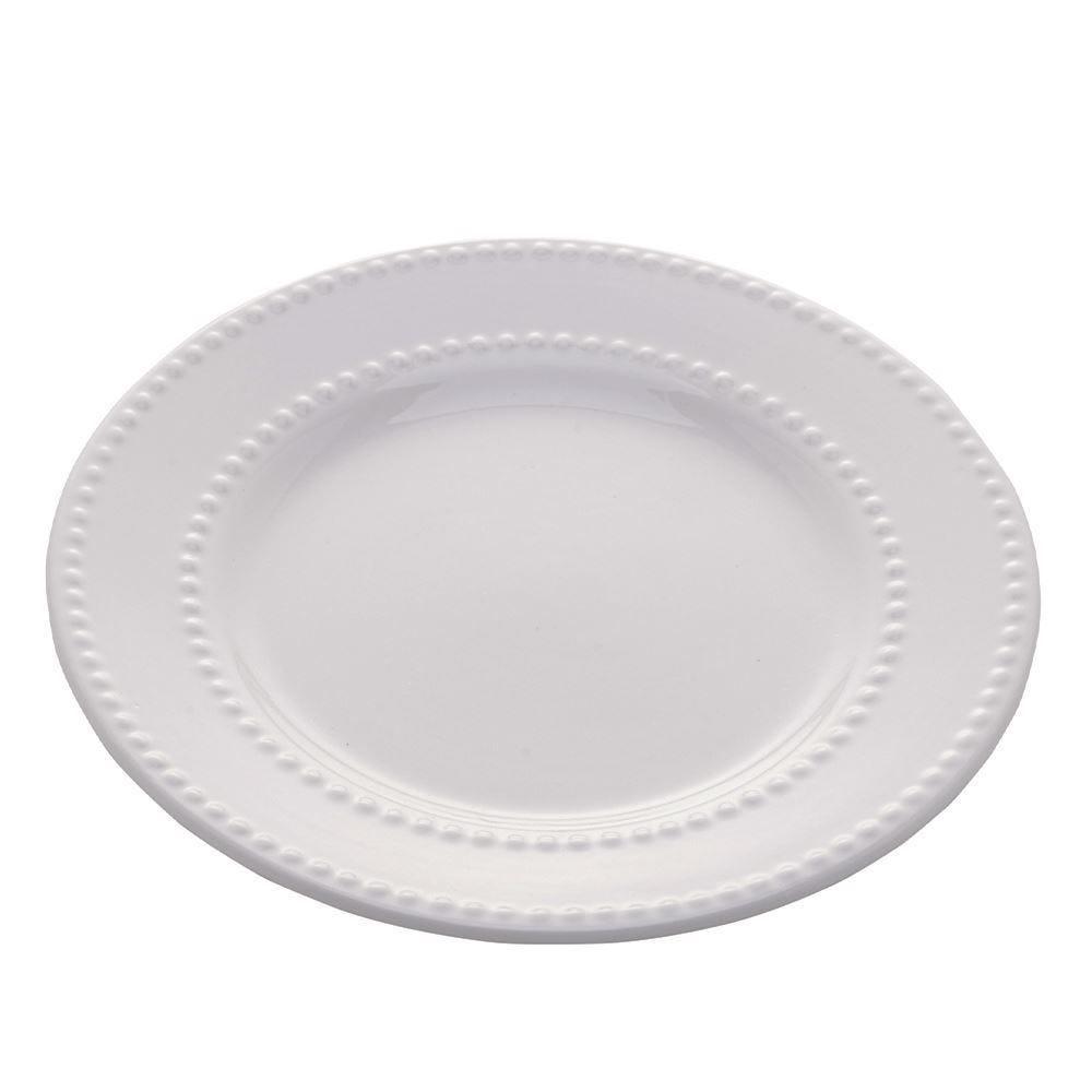 Prato Raso New Bone Pearl 27Cm - Porcelana