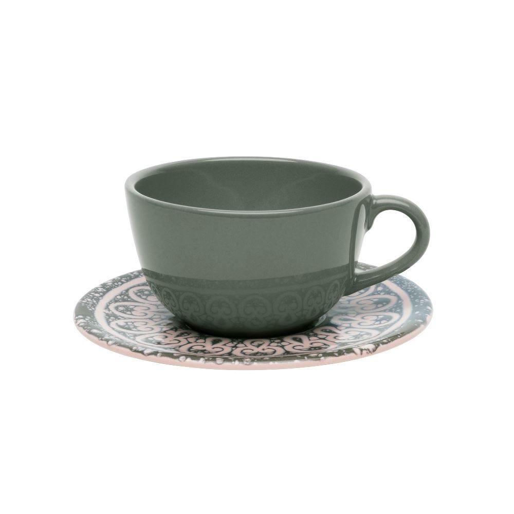 Xicara Cha C/ Pires Unni Elo 200Ml - Cerâmica