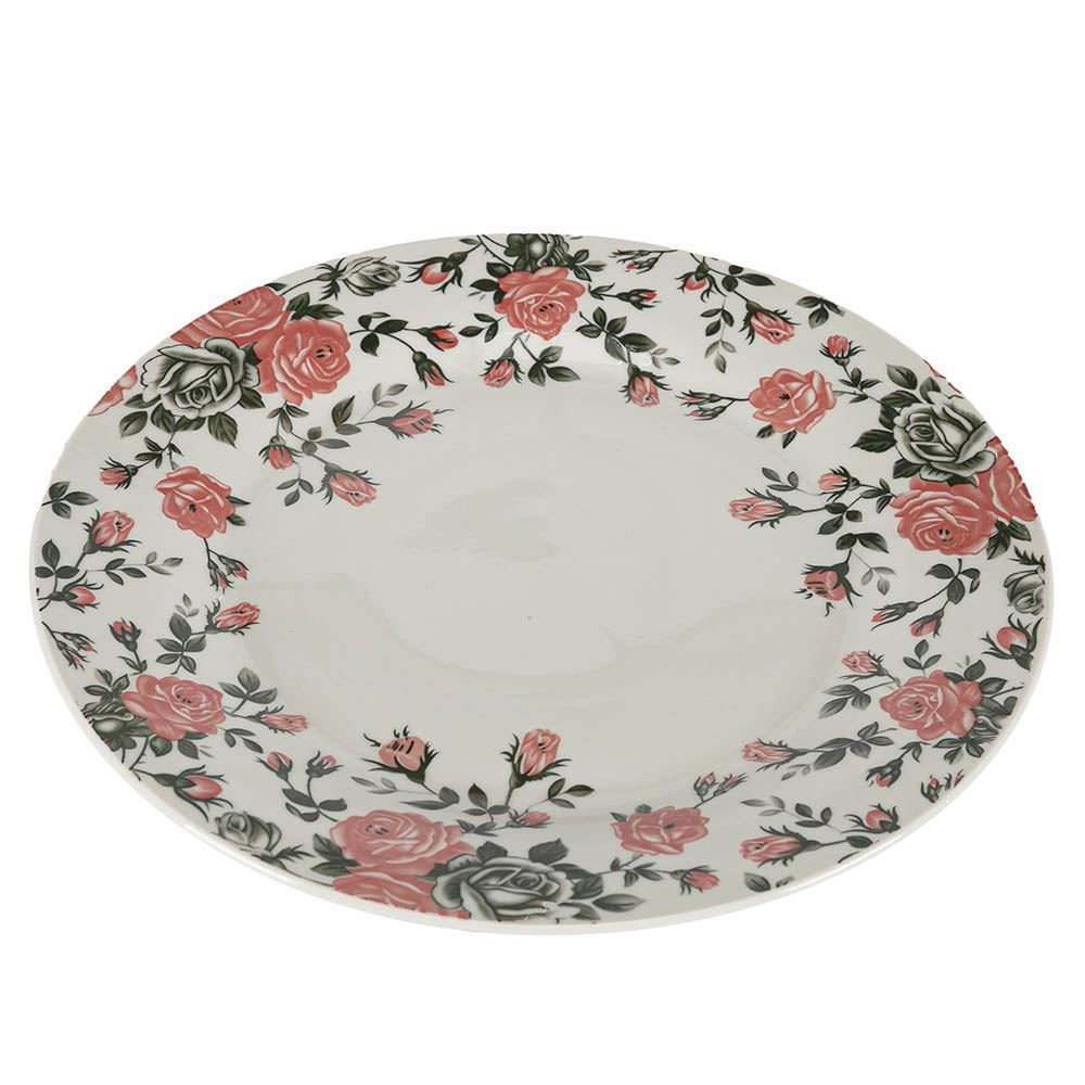 Prato Raso Pink Garden 26Cm - Porcelana