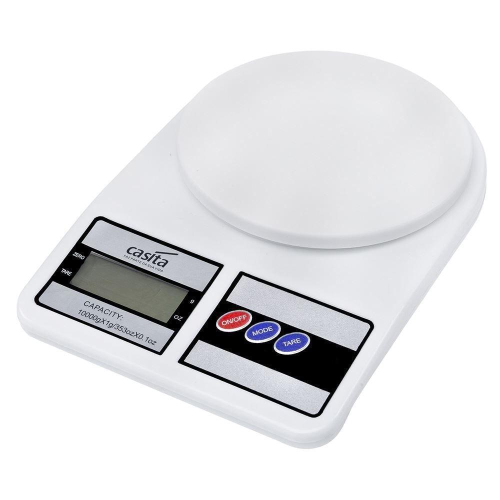 Balanca Digital Cozinha 10Kg - Branco