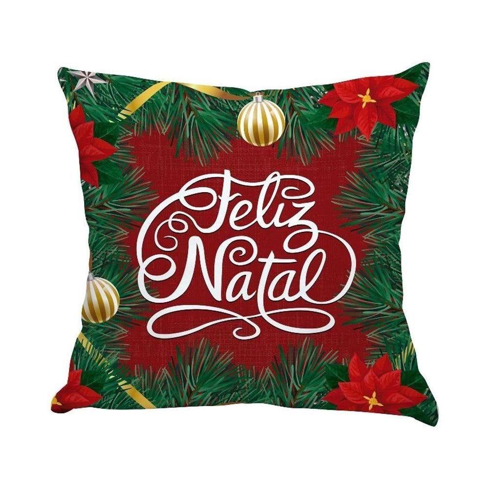 Almofada Decorativa 45X45cm Natal - Feliz Natal