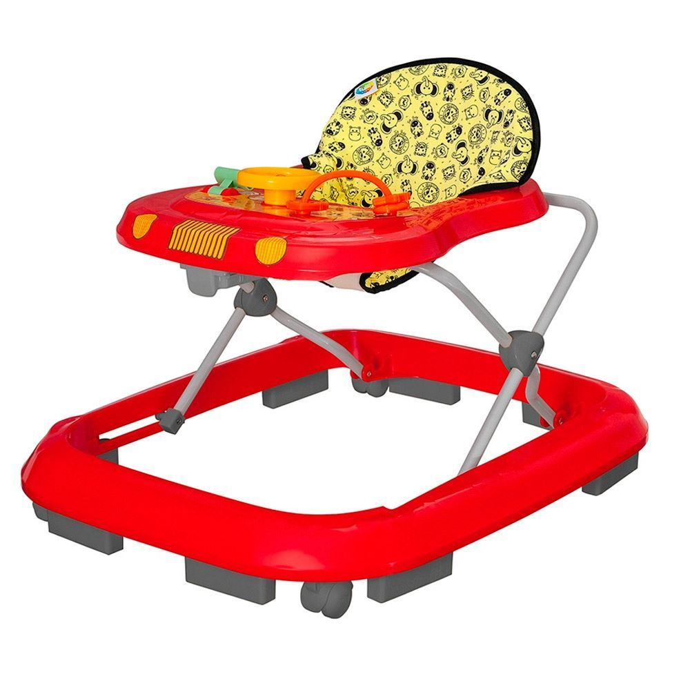 Andador Musical Tutti Baby - Safari Vermelho
