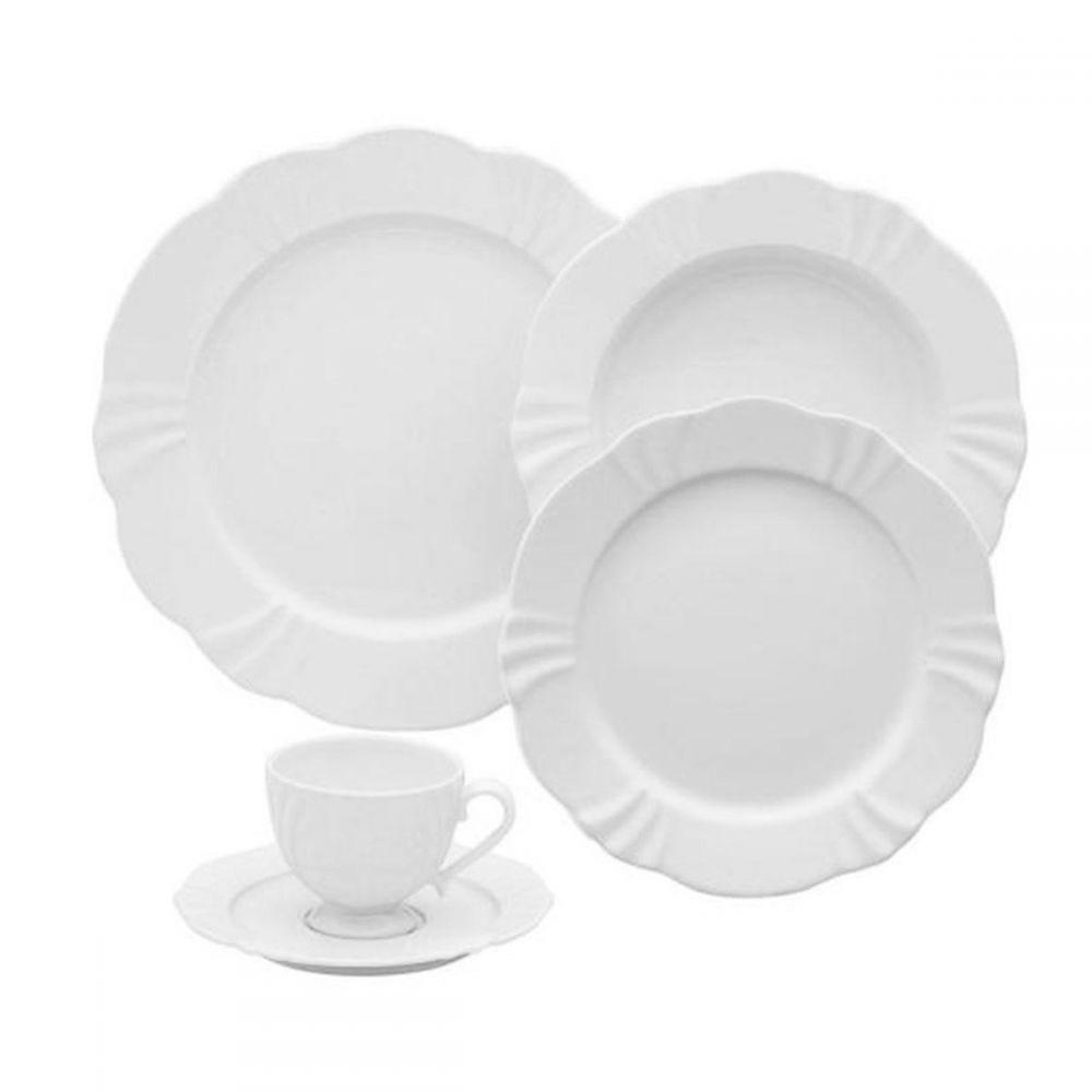 Aparelho De Jantar Oxford Soleil White 30 Peças - Porcelana