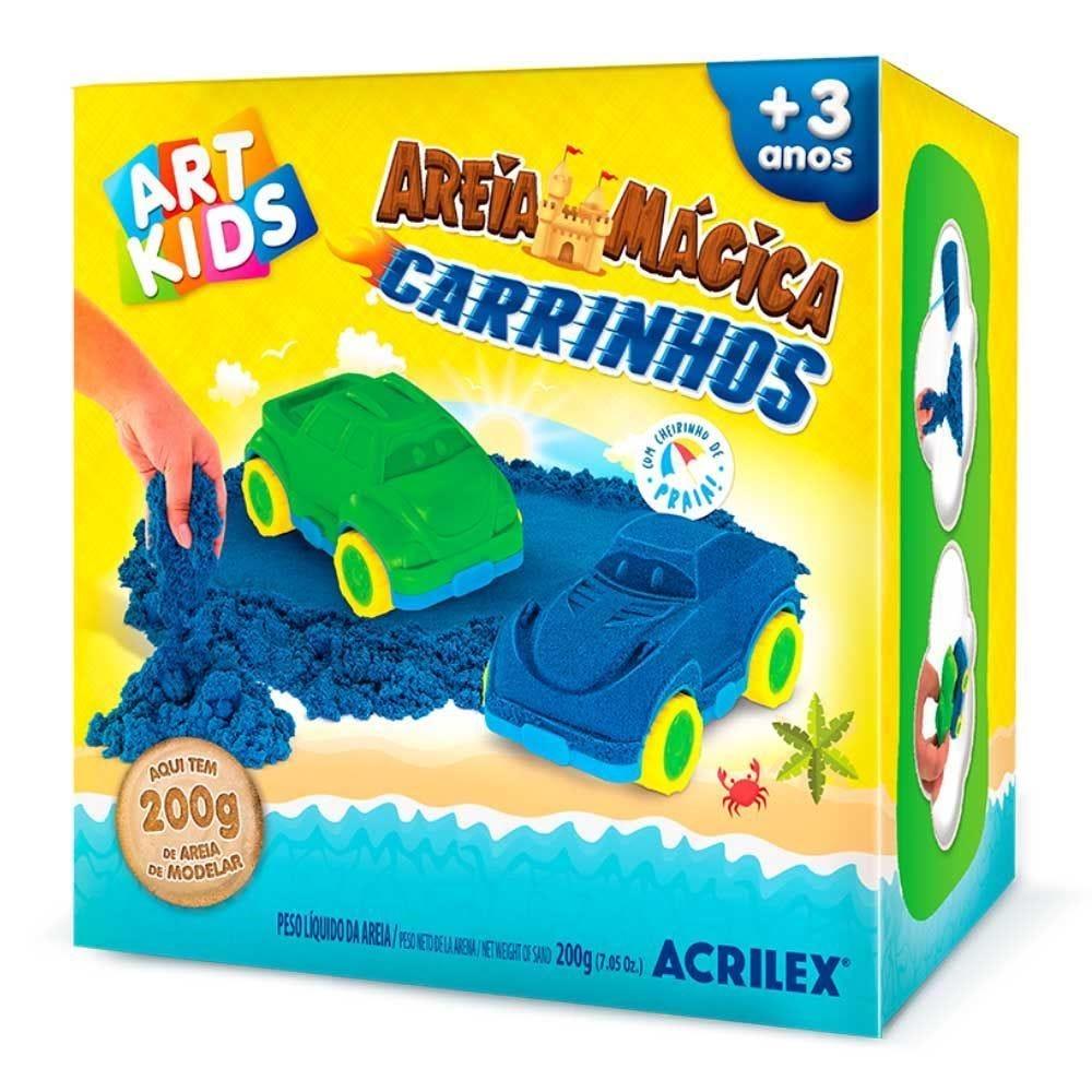 Areia Mágica Cinética Carrinhos 200G Acrilex - 05922