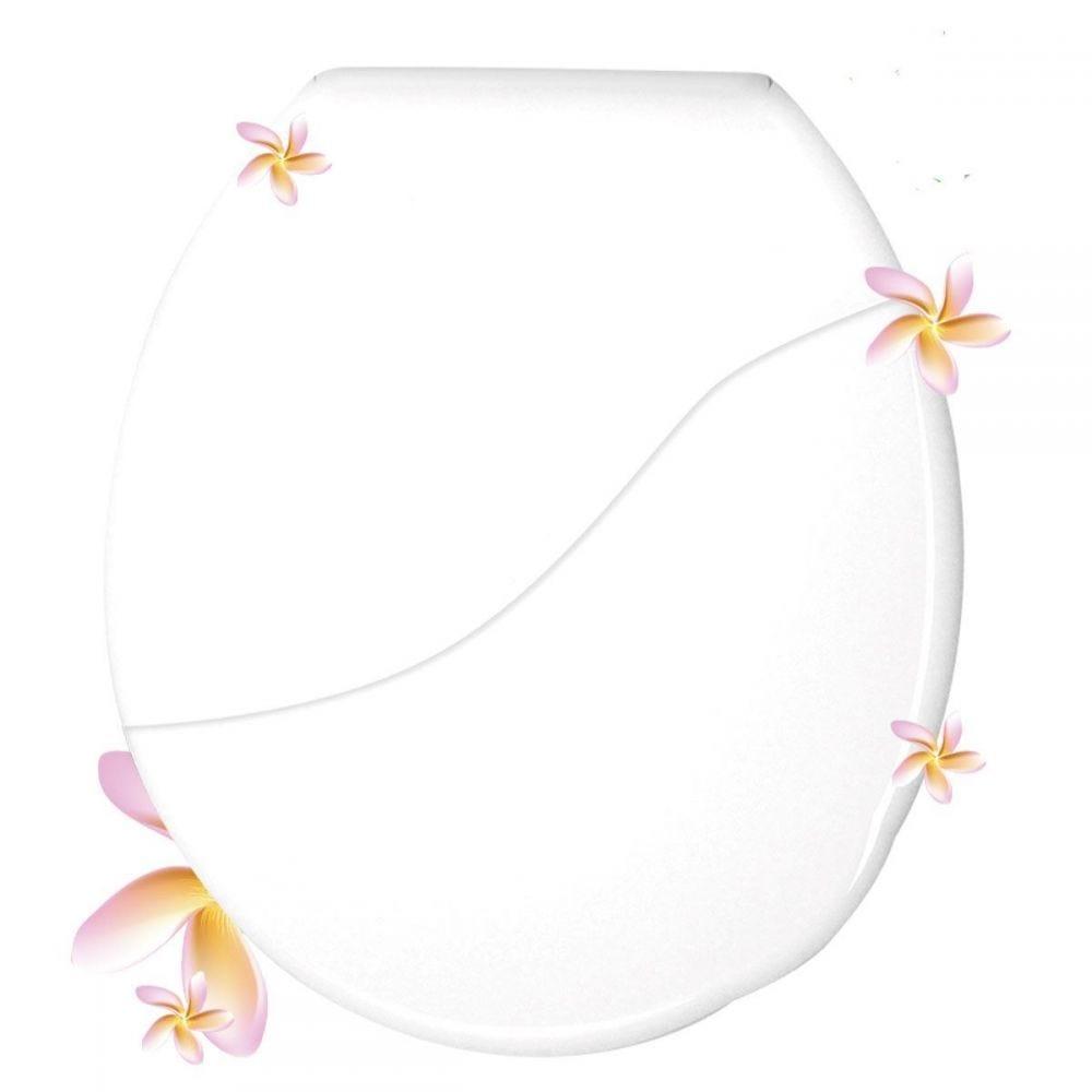 Assento Sanitário Almofadado Floral Bellart Durin - Branco