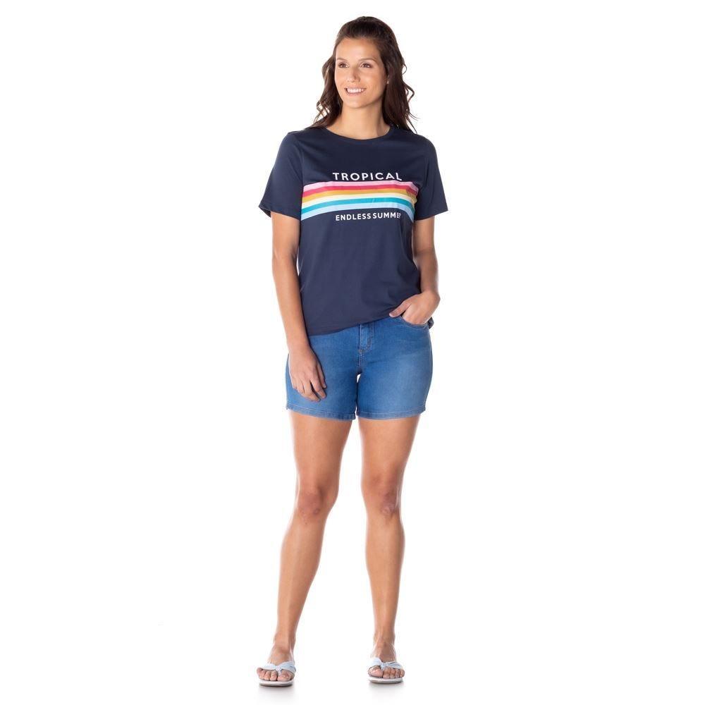Bermuda Jeans com 2 Botões Patrícia Foster