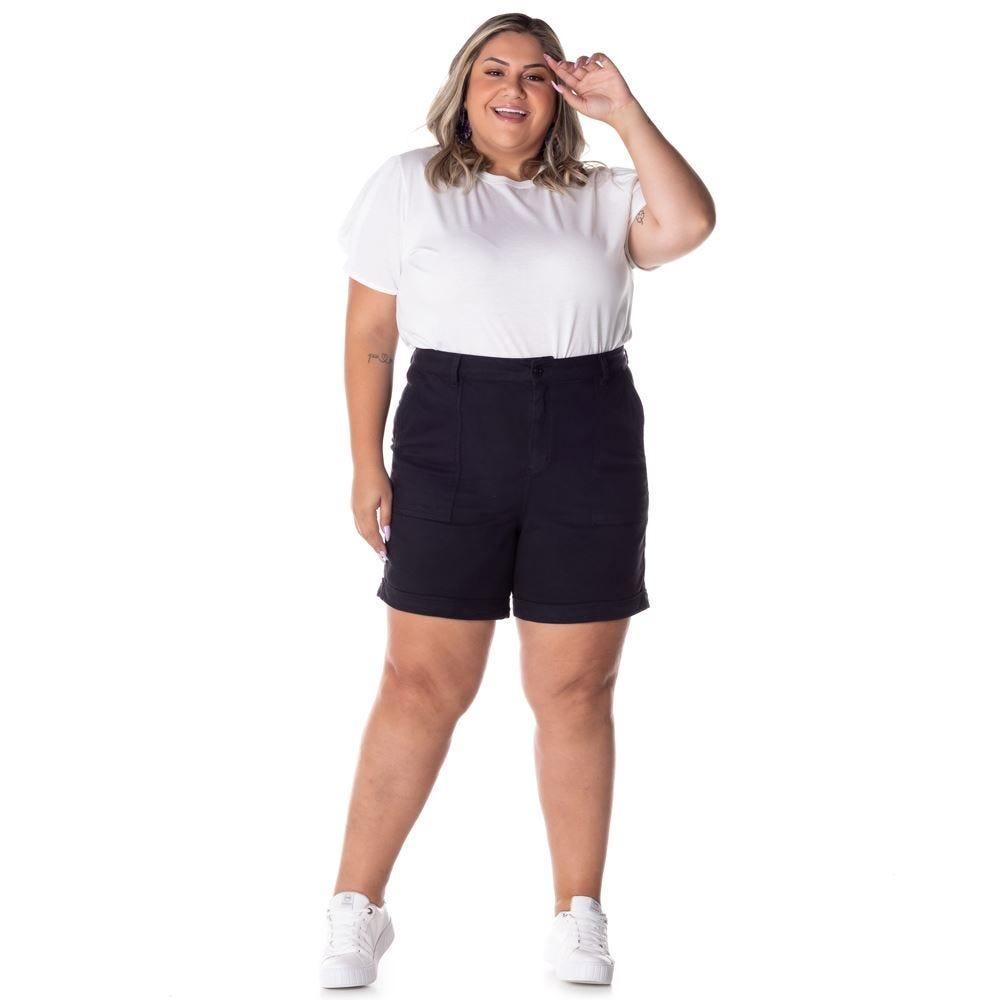Bermuda Sarja Plus Size 1/2 Coxa Patrícia Foster Mais