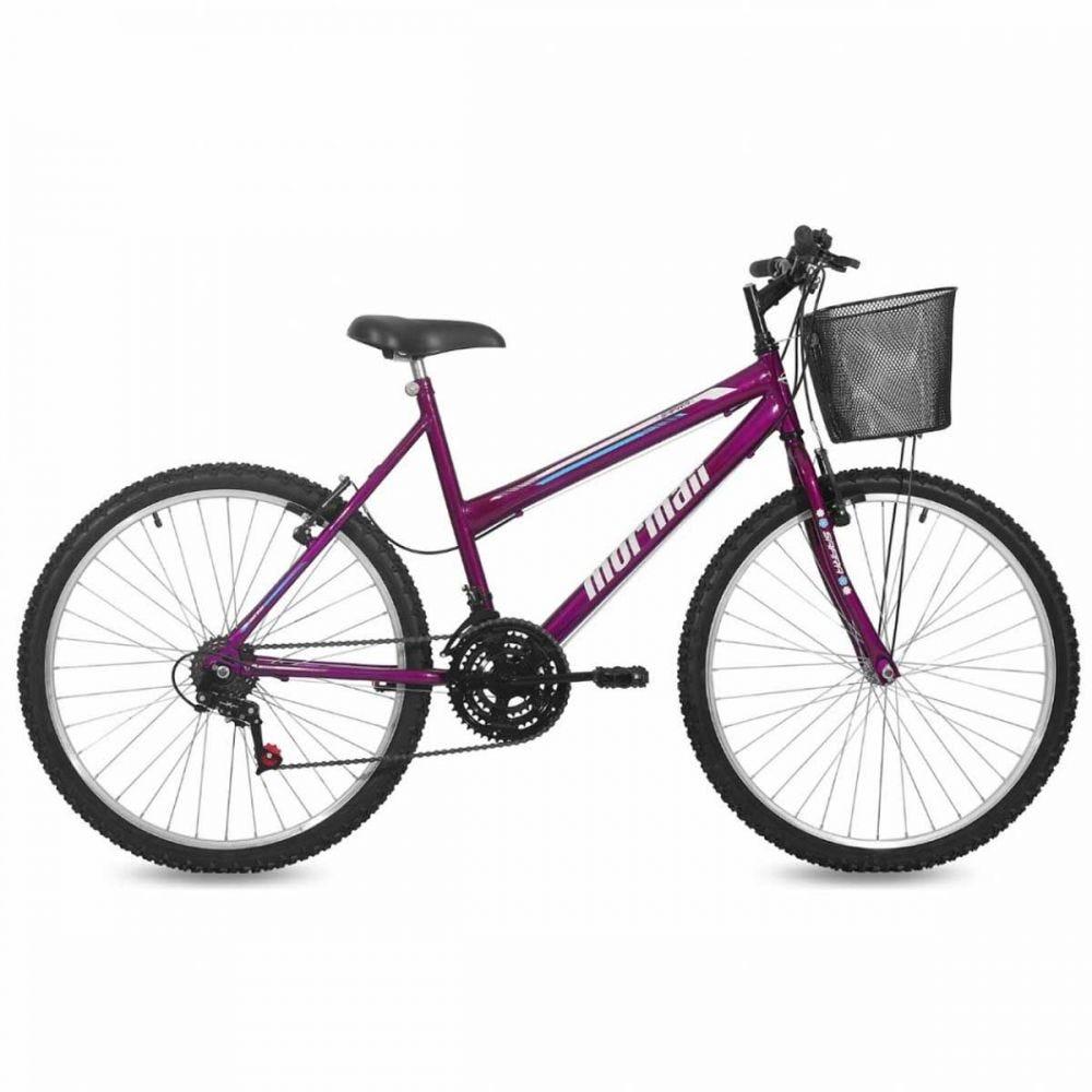 Bicicleta Mormaii Safira Aro 26 Rígida 18 Marchas - Violeta