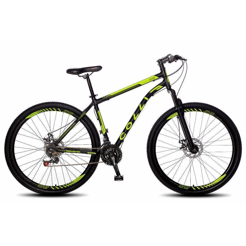 Bicicleta Colli Bike 531 Aro 29 Susp. Dianteira 21 Marchas - Preto/verde