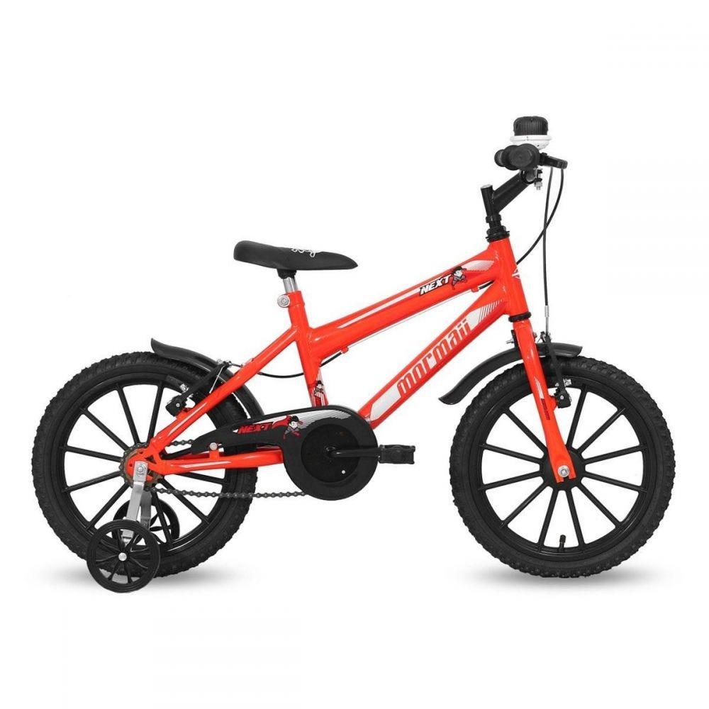 Bicicleta Infantil Mormaii Aro 16 Next Masculino Neon - Laranja