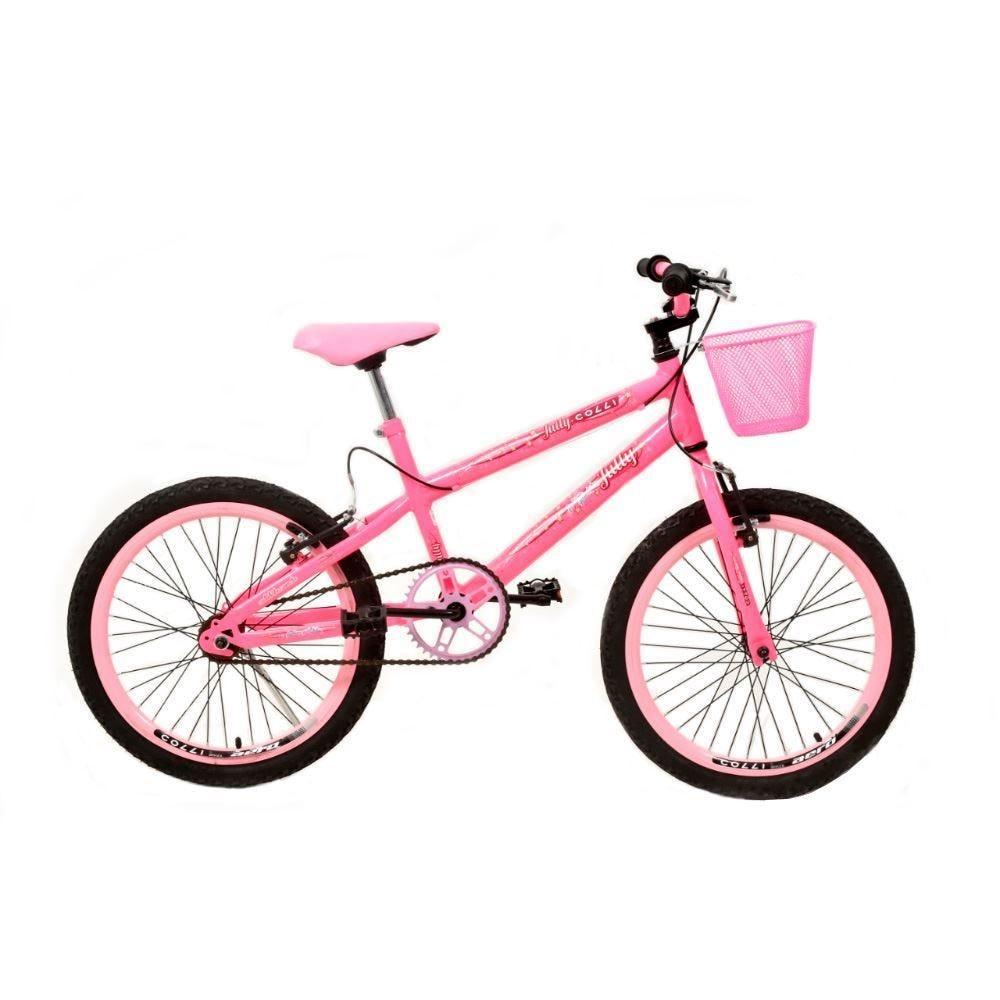 Bicicleta Juvenil Aro 20 July Com Cestinha Colli Rosa - 107_19D