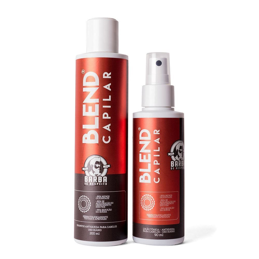 Blend Capilar Barba De Respeito - Antiqueda e Crescimento de Cabelo
