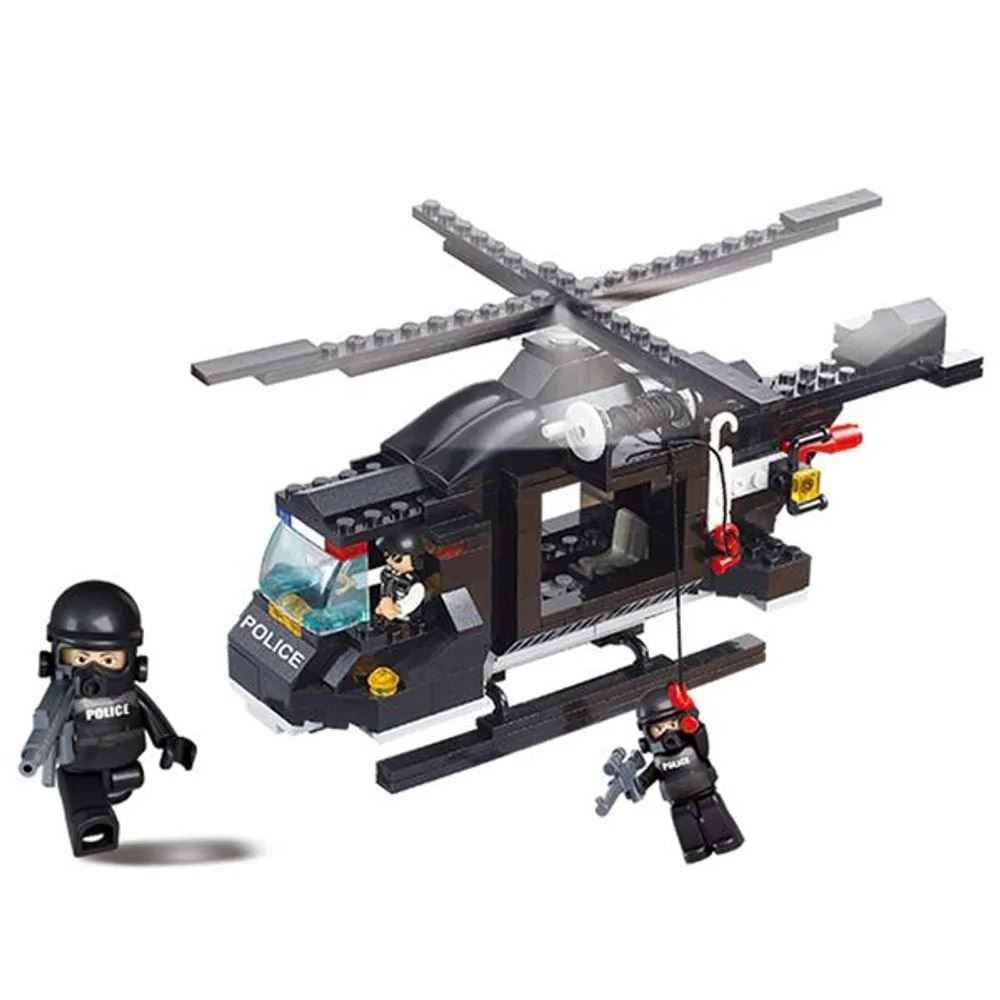 Bloco de Montar Helicóptero da Polícia Multikids - BR834 - Preto