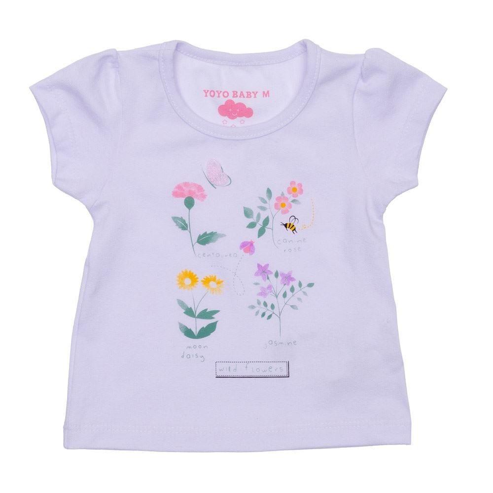 Blusa de Bebê Cotton Floral Yoyo Baby