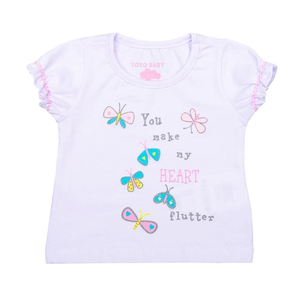 Blusa de Bebê Light Borboletas Yoyo Baby