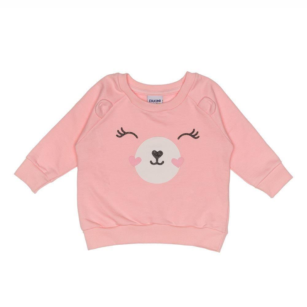 Blusão de Bebê em Moletom com Estampa de Urso Fakini