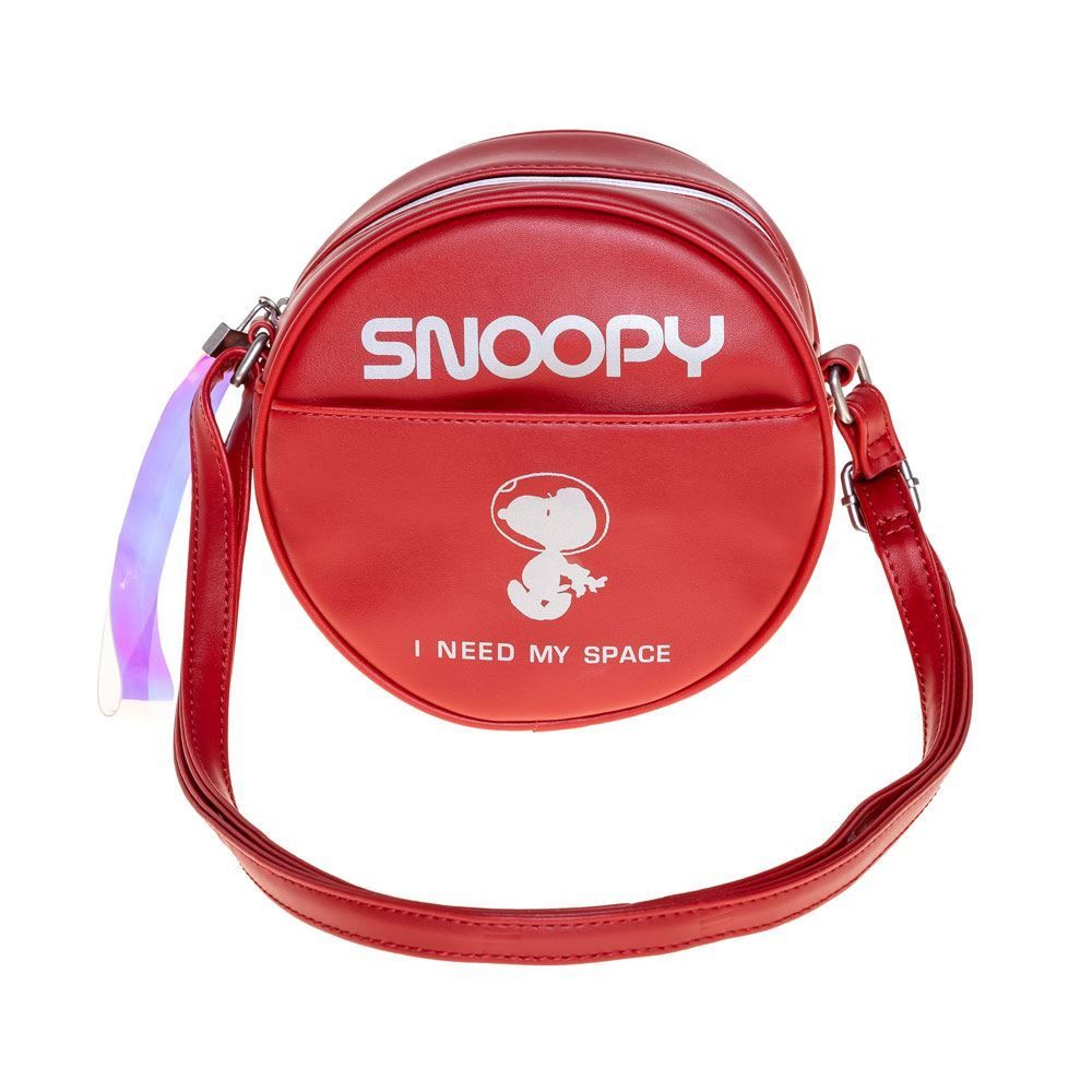 Bolsa Redonda Transversal Pequena Snoopy - Vermelho