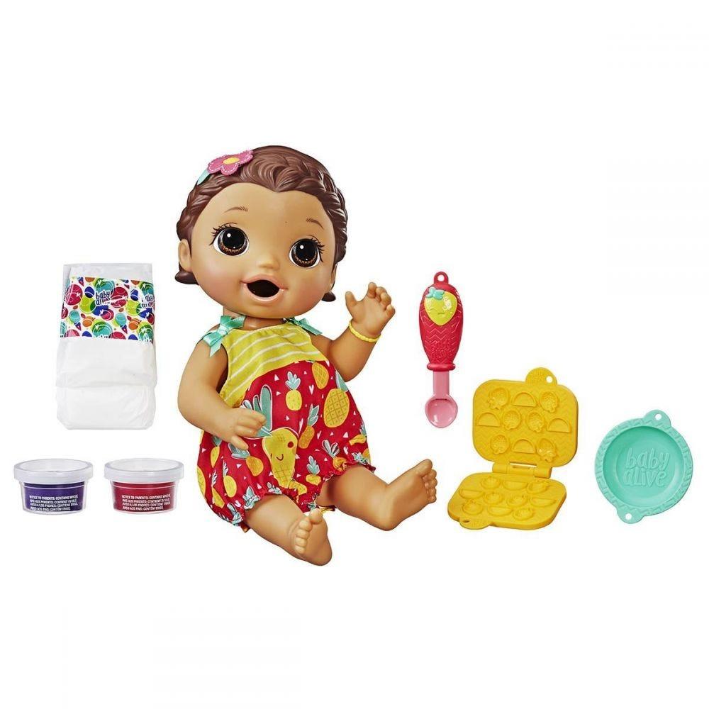 Boneca Baby Alive Lanchinhos Divertidos Morena Hasbro - E5842