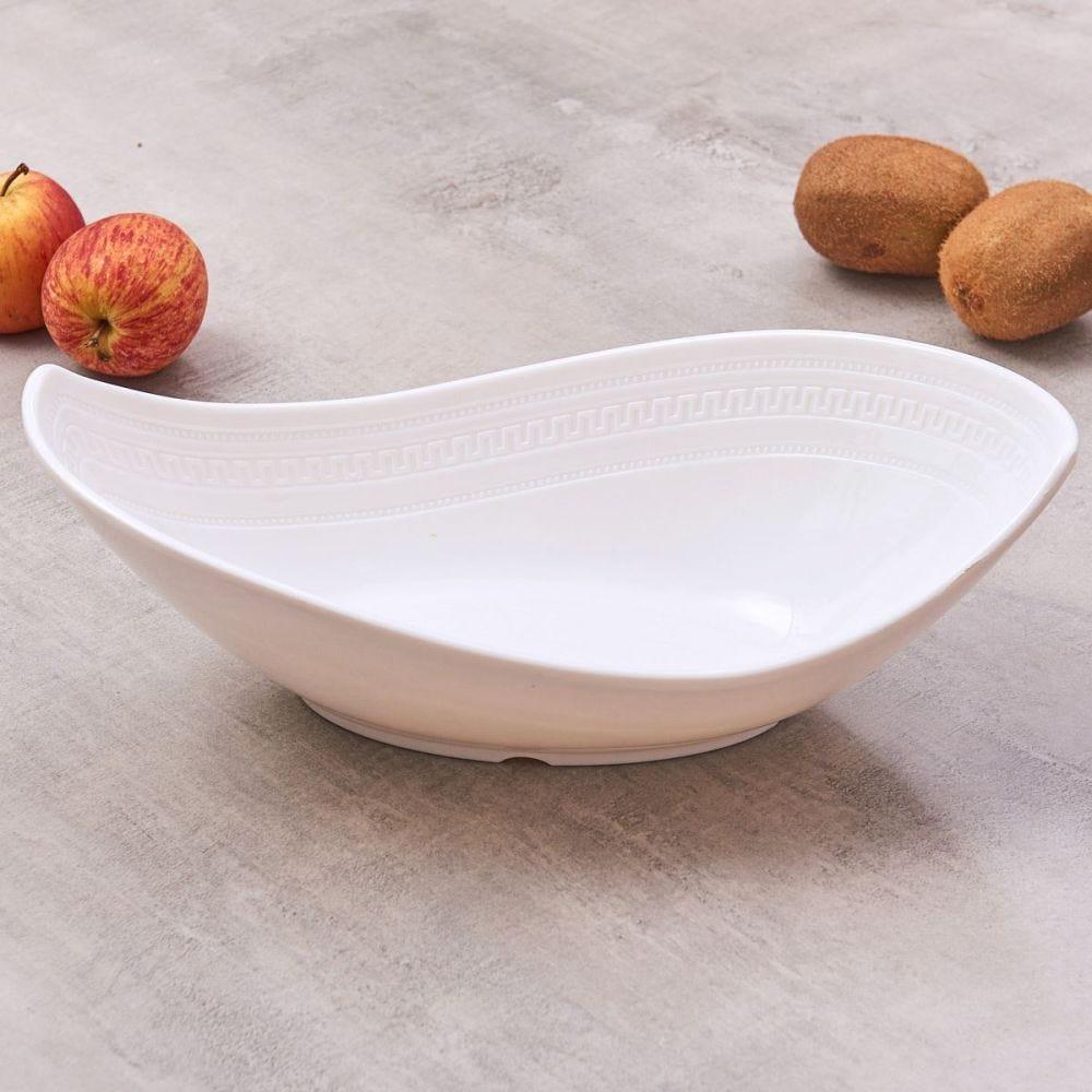 Bowl Melamina Jade Oval - Branco