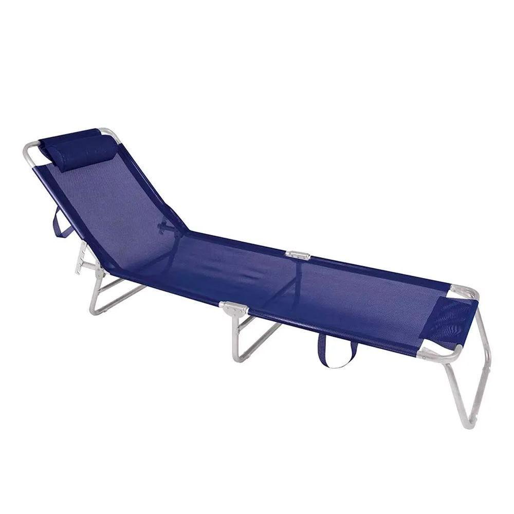 Cadeira Espreguiçadeira Alumínio Azul Mor - 2701