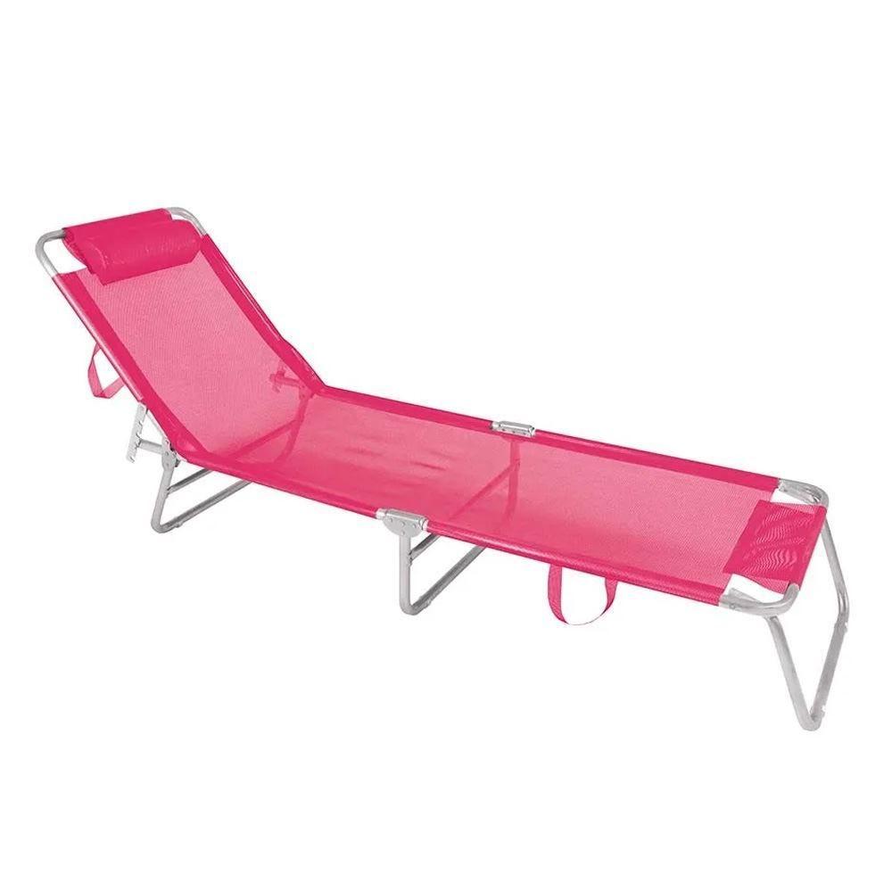 Cadeira Espreguiçadeira Alumínio Rosa Mor - 2704