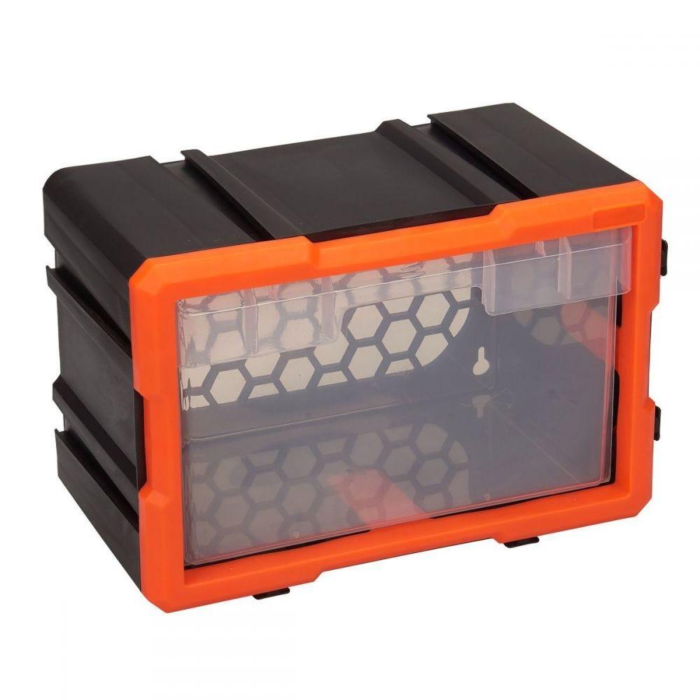 Caixa de Ferramentas Modular com 1 Gaveta - Preto