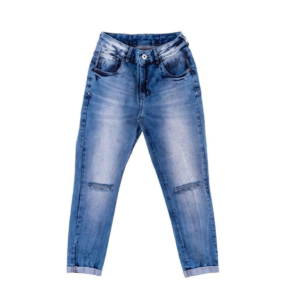 Calça Jeans Feminina Cropped Contatho