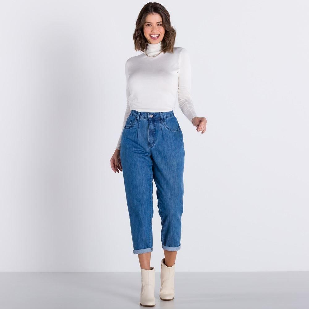 Calça Jeans Mom Básica Patrícia Foster