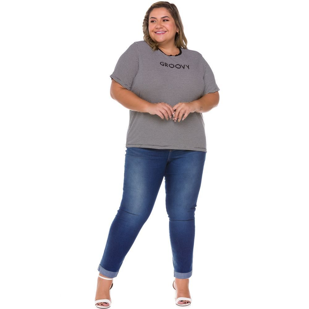 Calça Jeans Plus Size Cigarrete Patrícia Foster Mais