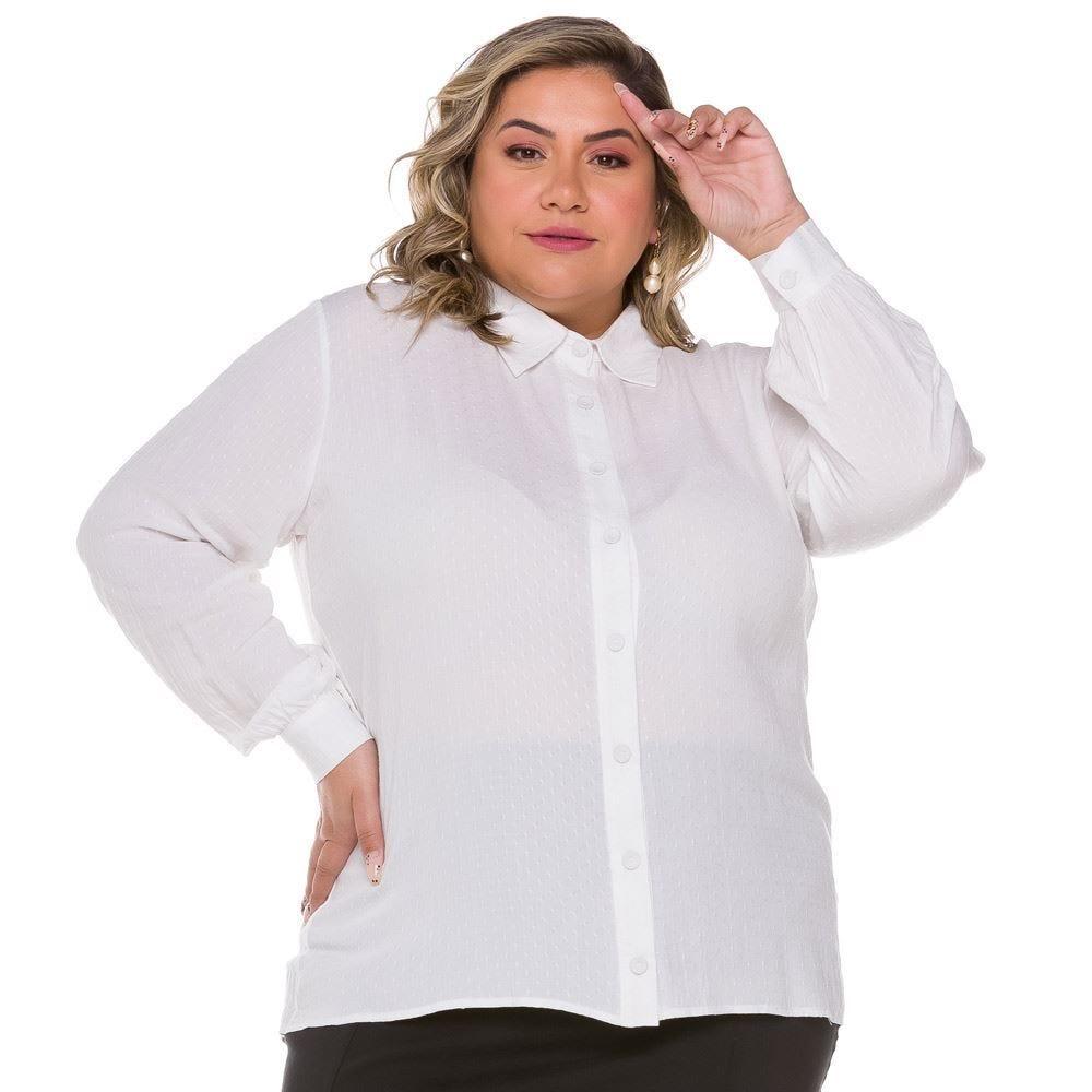 Camisa Plus Size de Viscose Maquinetada Patrícia Foster Mais