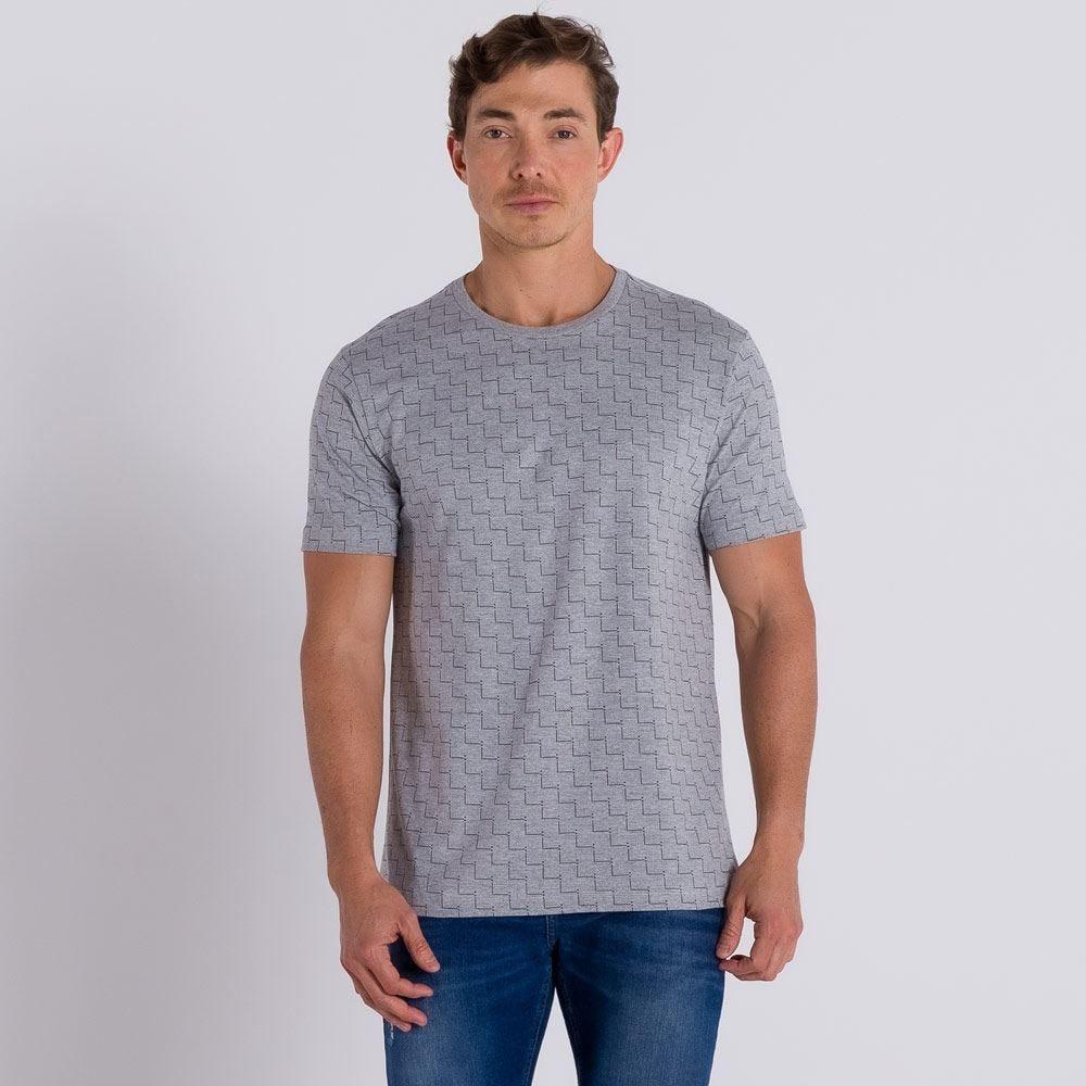 Camiseta Estampada com Linhas Marc Alain