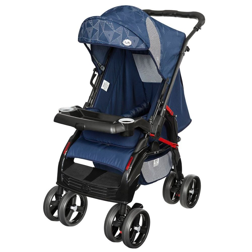 Carrinho De Bebê Berço Upper Tutti Baby - Azul