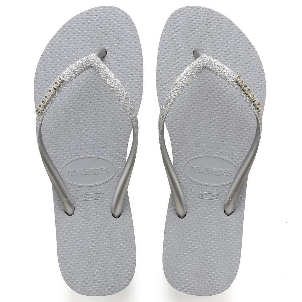 Chinelo Feminino Slim Glitter Havaianas  - CINZA GELO 37.38