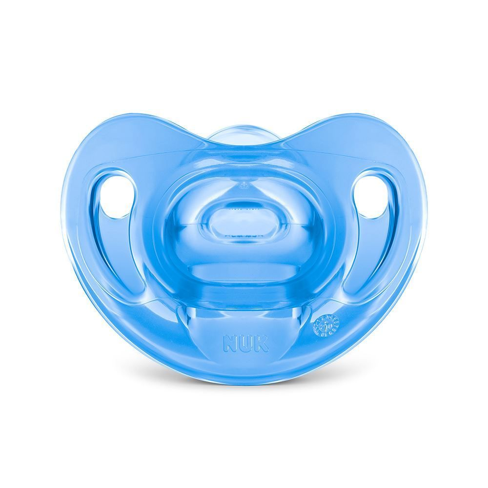 Chupeta Nuk Sensitive Soft 100% Silicone S2 - Azul Claro