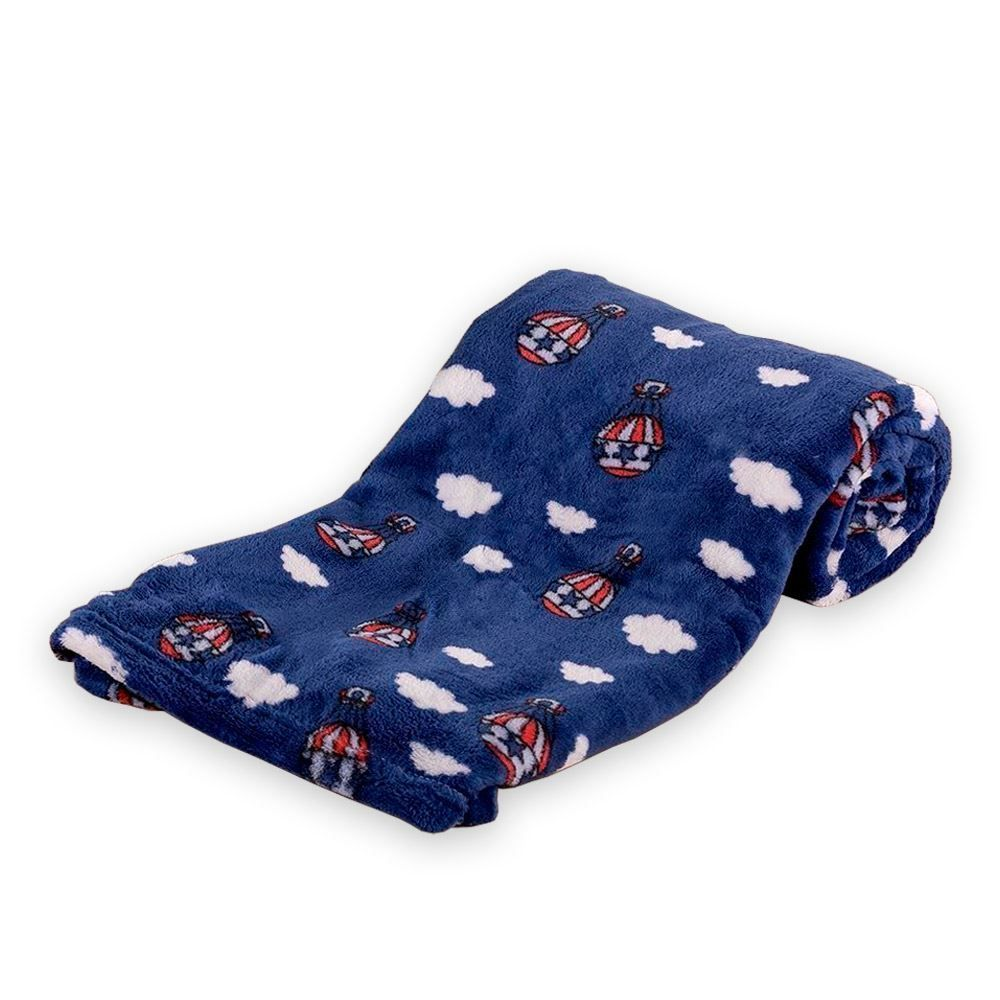 Cobertor Bebê Microfibra 90X100cm Yoyo Baby - Balao Magico Marinho
