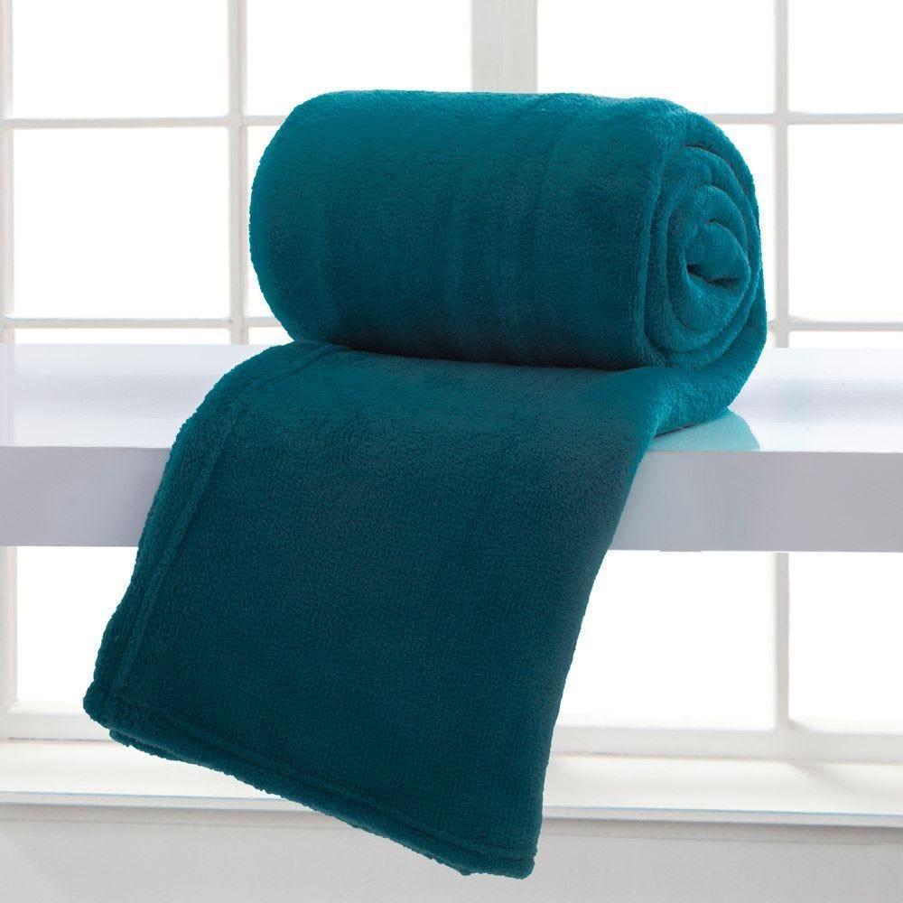 Cobertor Casal Home Design Microfibra - Azul Adriatico