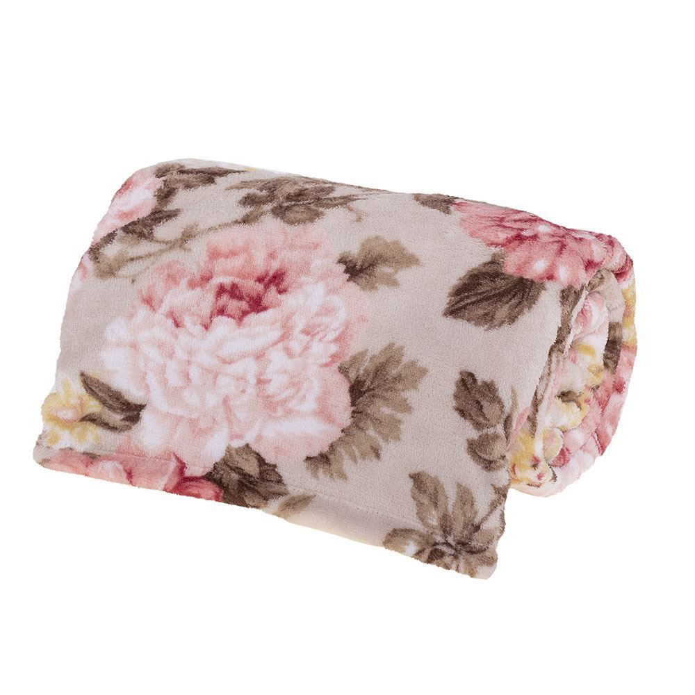 Cobertor Solteiro Microfibra Estampado Yaris - Marambaia Kaki