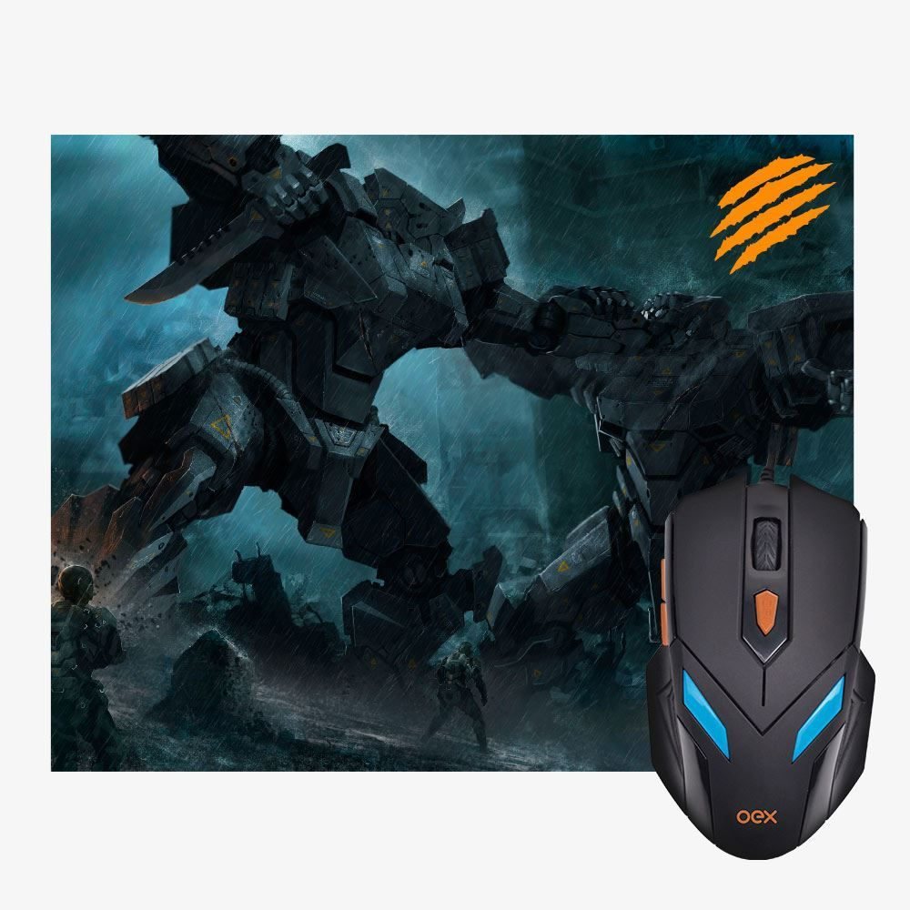 Combo War Com Mouse Gamer E Mousepad Oex Games - MC100