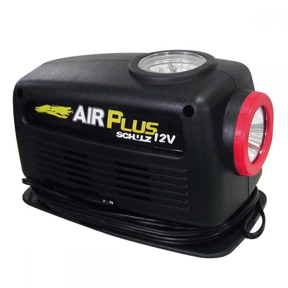 Compressor de Ar Schulz Hobby 12 Volts Air Plus - Preto