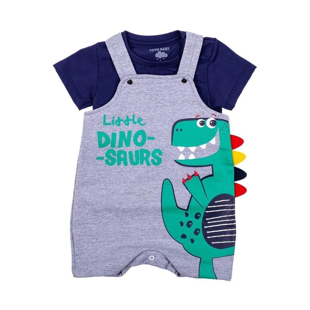 Conjunto de Bebê Dino Jardineira e Blusa Yoyo Baby