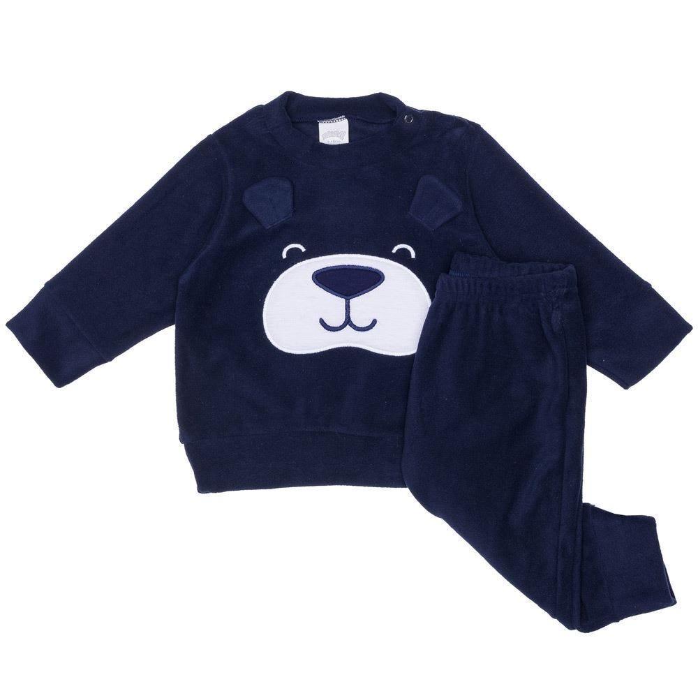 Conjunto de Bebê Moletom Urso + Calça Alakazoo
