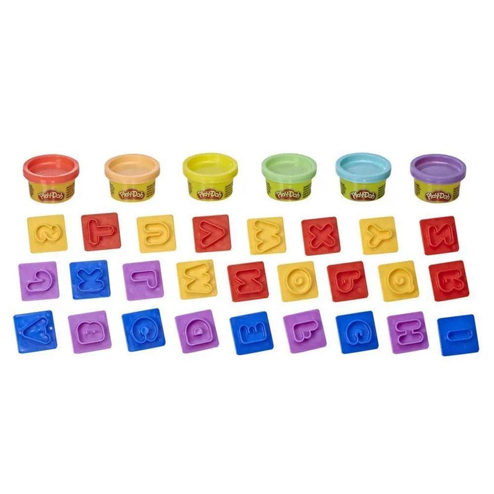 Conjunto de Massinhas Play-Doh Letras Hasbro - E8532 - Colorido