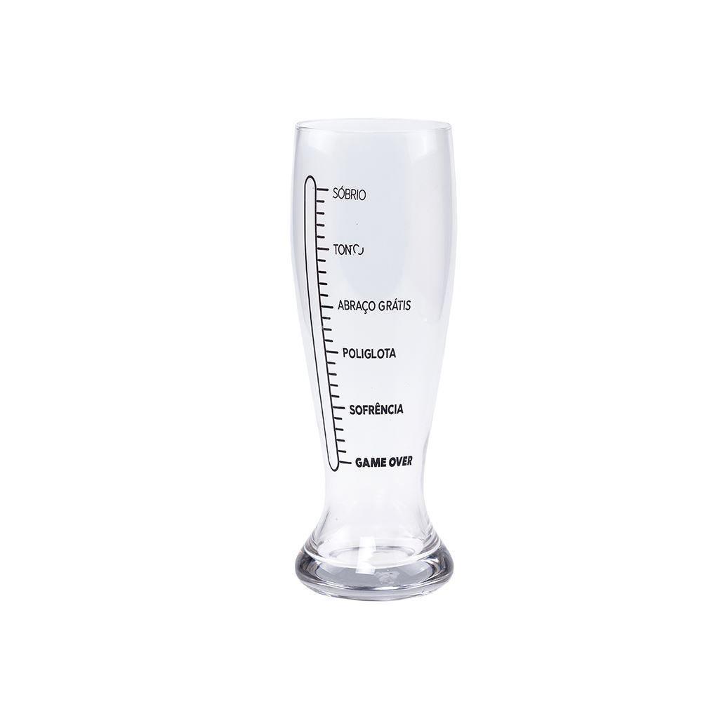 Copo De Vidro Para Cerveja Estampado 1,5L Solecasa - Transparente