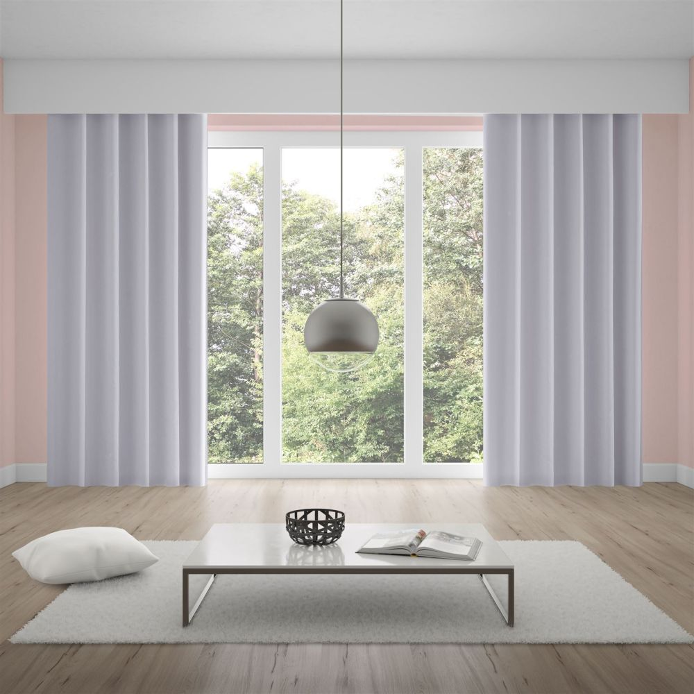 Cortina Corta Luz 3,60x2,50m Tecido Brilho - Branco