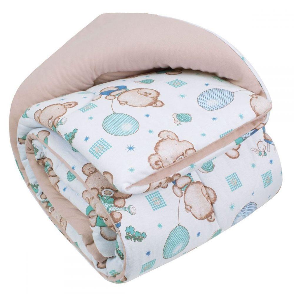 Edredom Infantil 100x140cm Malha Yoyo Baby - Bege
