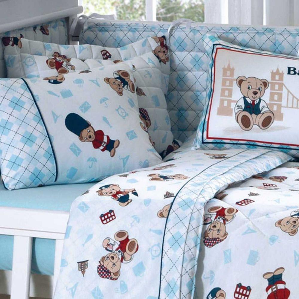 Edredom Infantil 100x140cm Malha Yoyo Baby - Azul Céu